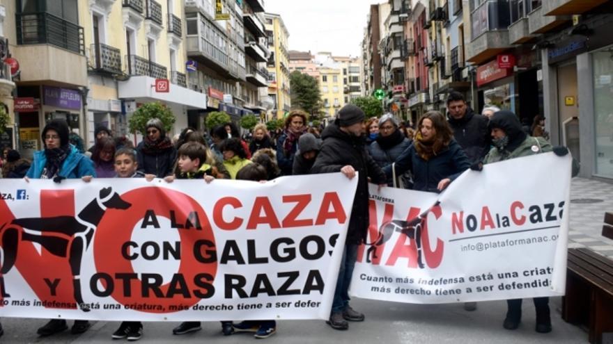 Un momento de la concentración en Cuenca