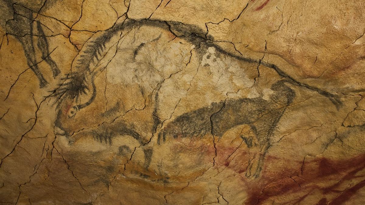 Bisonte magdaleniense en la cueva de Altamira