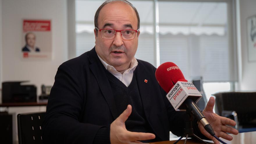 Iceta (PSC) no cree que la primera reunión de la mesa de dialogo termine en algún acuerdo