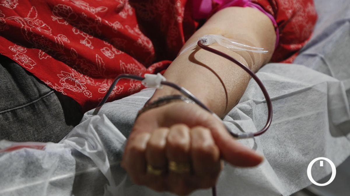 Donación de sangre en la Fundación Cajasol