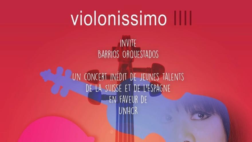 Cartel del concierto en Ginebra organizado por Violoníssimo.