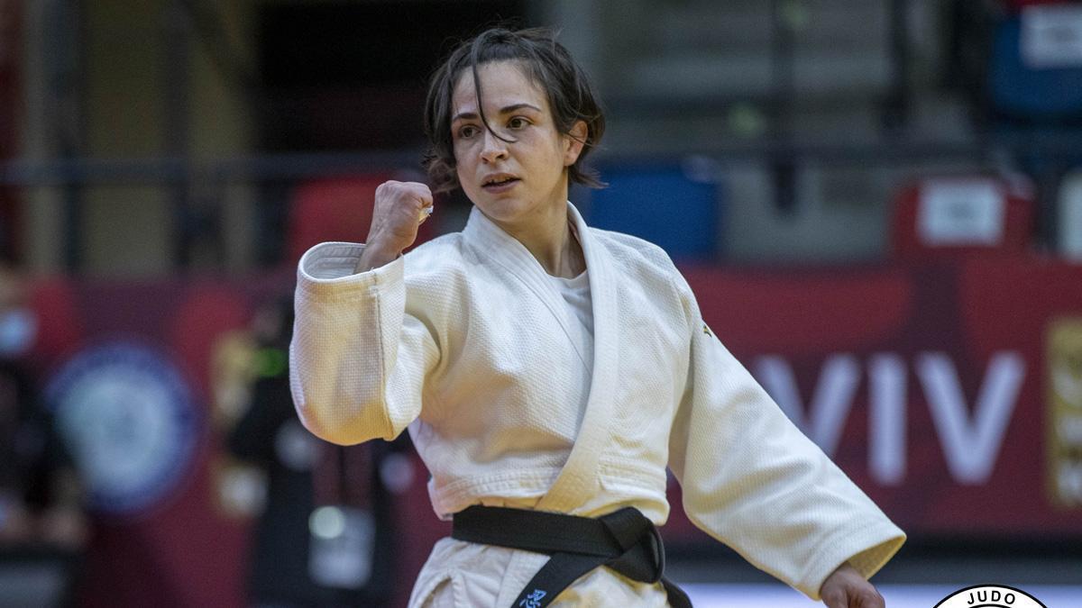 Julia Figueroa, tras vencer en un combate.