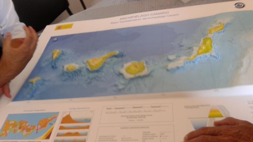 Plataforma marina de Canarias.