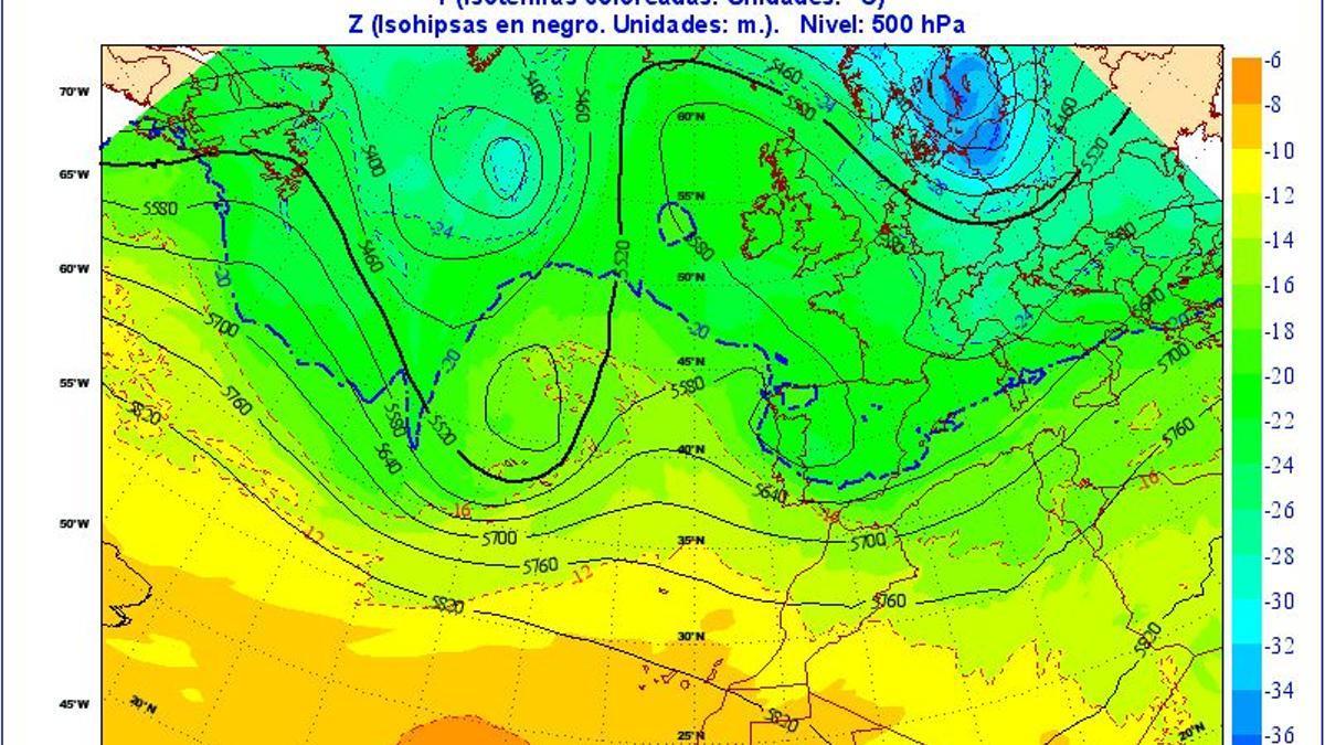 Observación meteorológica de este jueves, 22 de abril