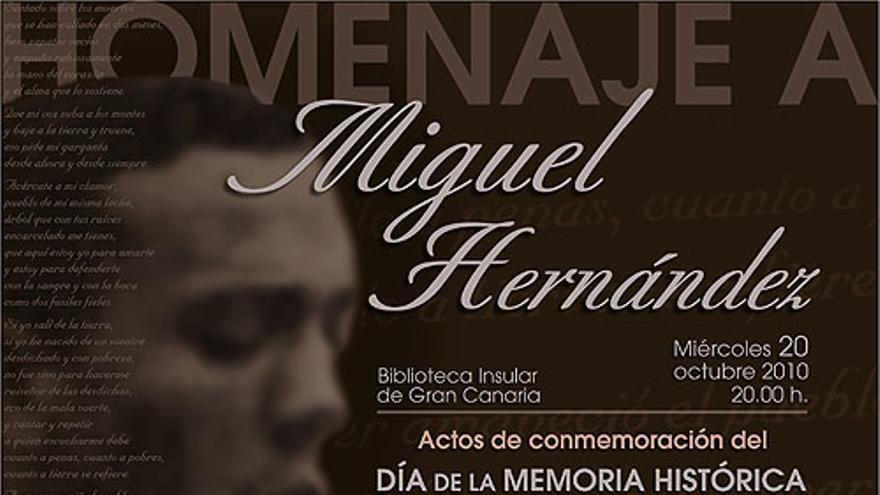 Cartel promocional del acto.