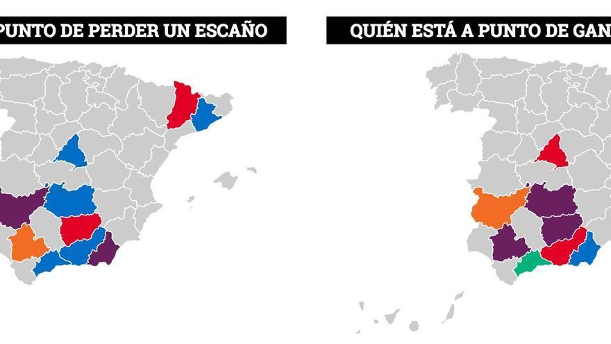 El gráfico de baile de escaños en eldiario.es