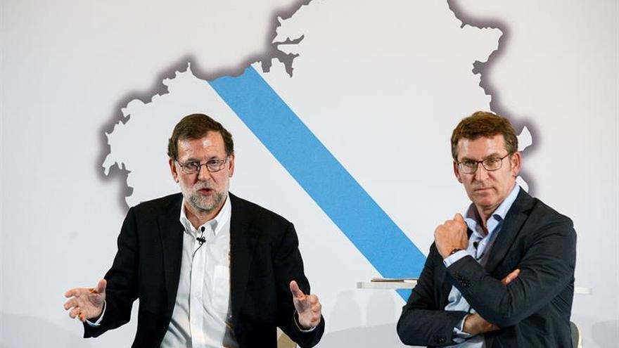Rajoy alaba a Feijóo y destaca la contribución de Galicia a mejorar España