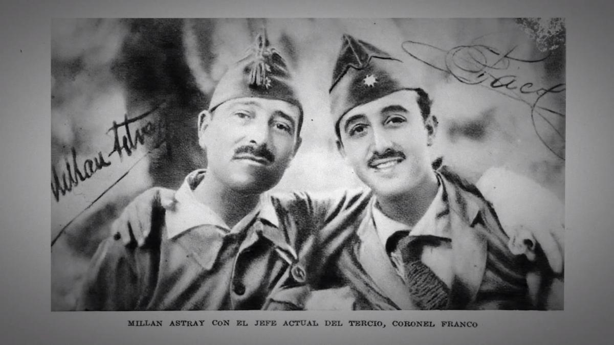 Millán Astray y Franco, fotograma del film
