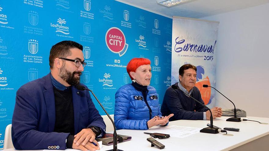 Israel Reyes, María Isabel García Bolta y Alberto Trujillo (de izquierda a derecha). ©ACFI Press