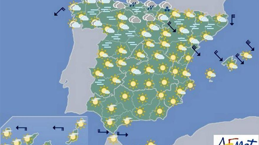 Hoy, nieblas en norte y este, y viento fuerte en Ampurdán y Baleares
