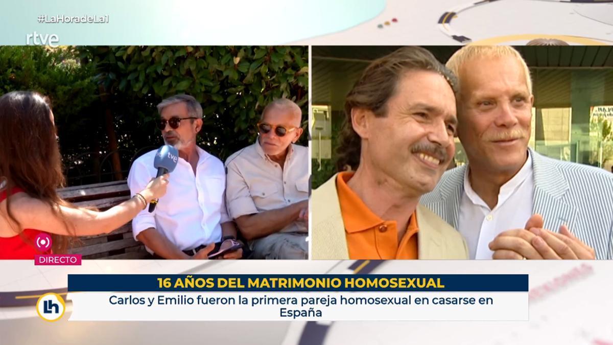 Carlos y Emilio, la primera pareja homosexual que pudo casarse en España