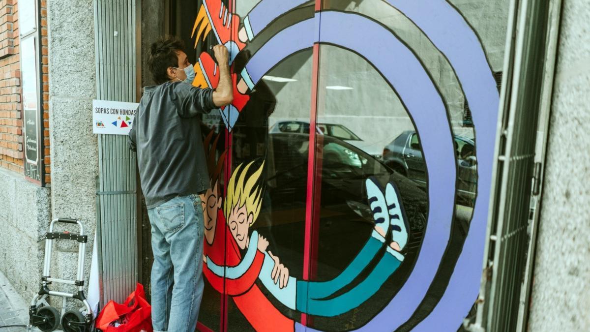 Sopas con Hondas, uno de los artistas participantes en la edición de 2020 de Pinta Malasaña