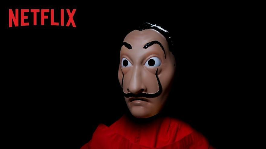 Captura del vídeo promocional de 'La casa de papel'