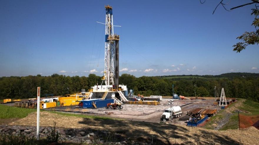 Pozo de fracking.