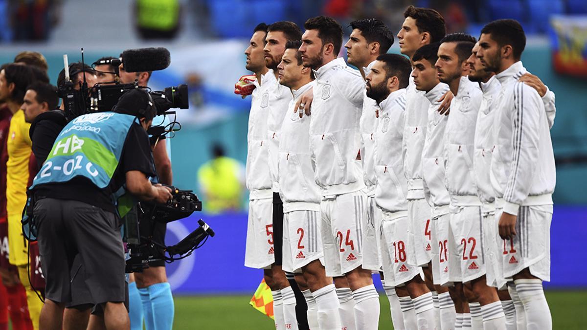 Alineación de España en el encuentro de cuartos de final de la Eurocopa