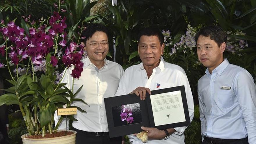 Duterte estrecha la cooperación con Singapur en terrorismo y drogas