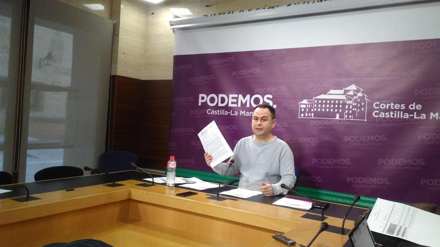 El diputado regional de Podemos, David Llorente