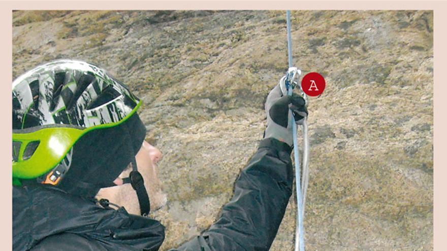 Recuperar la cuerda y el cordino