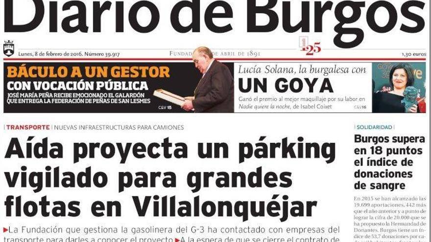 Portada de El Diario de Burgos