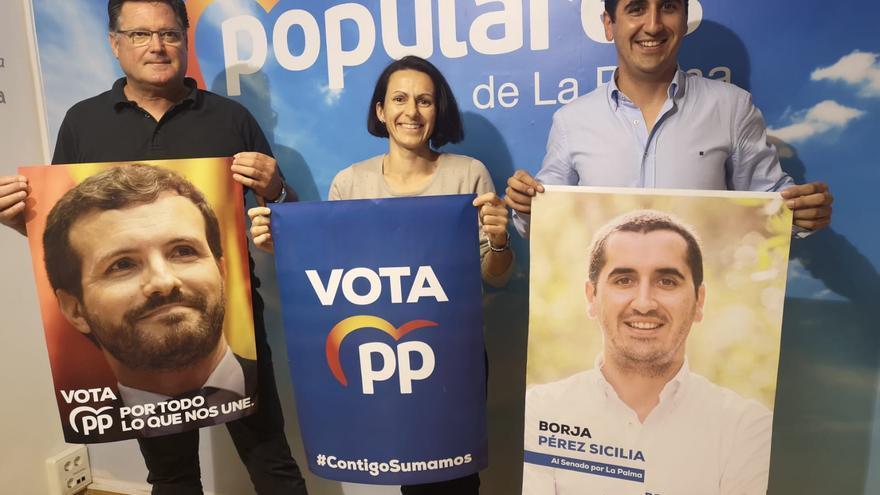 Presentación de la campaña del PP en La Palma.