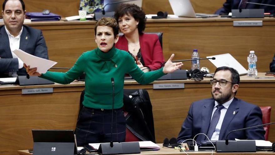 La presidenta del Gobierno de Navarra María Chivite.