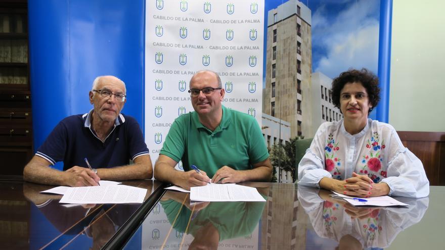 Ángel Pablo Rodríguez, Anselmo Pestana y Jovita Monterrey.