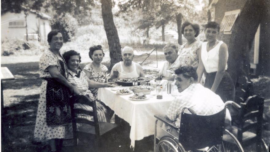 Juan Peris Alemany, d´Orba, amb la seua familia als EUA.