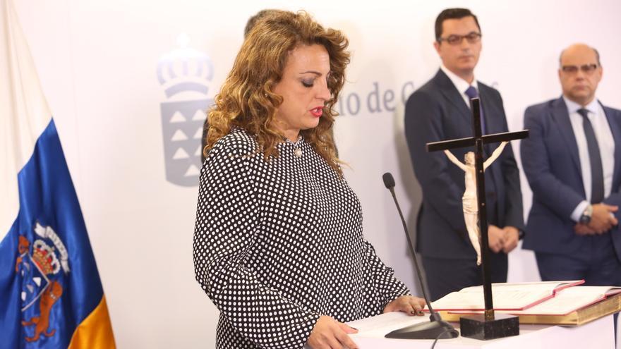 La consejera de Políticas Sociales, Empleo y Vivienda Cristina Valido (ALEJANDRO RAMOS)