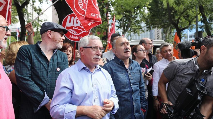 Los líderes de CCOO y UGT, Ignacio Fernández Toxo y Pepe Álvarez.