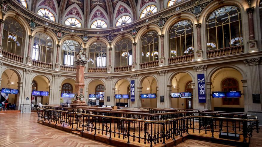 Vista de la Bolsa de Madrid (España),