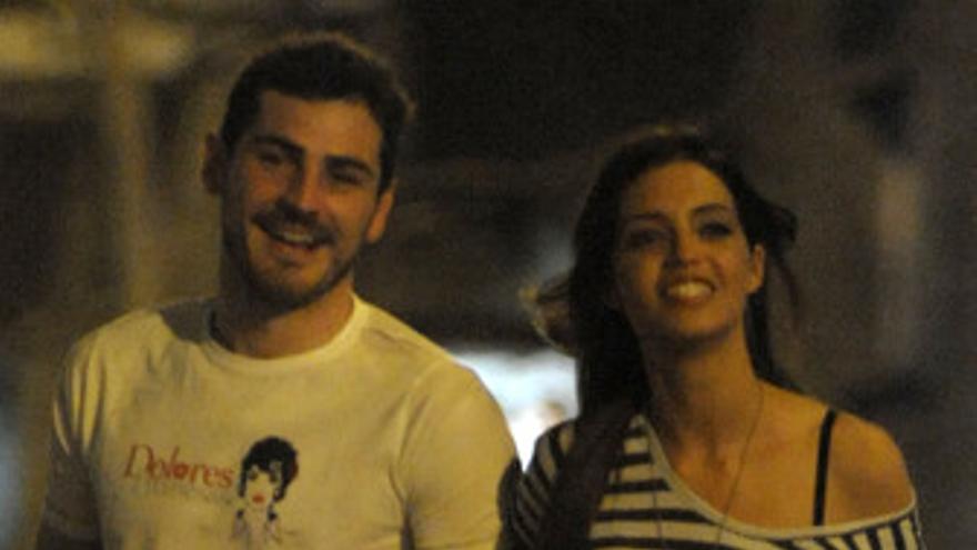 Iker Casillas y Sara Carbonero, felices y sonrientes