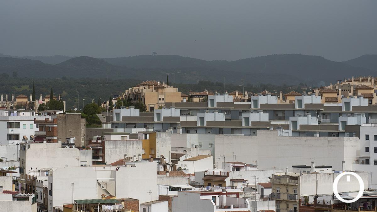 Una masa de polvo sahariano cubriendo Córdoba
