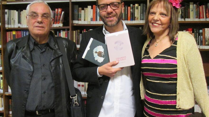 Luis León Barreto, Ramón Betancor y Rosario Valcárcel, este viernes. Foto: LUZ RODRÍGUEZ.