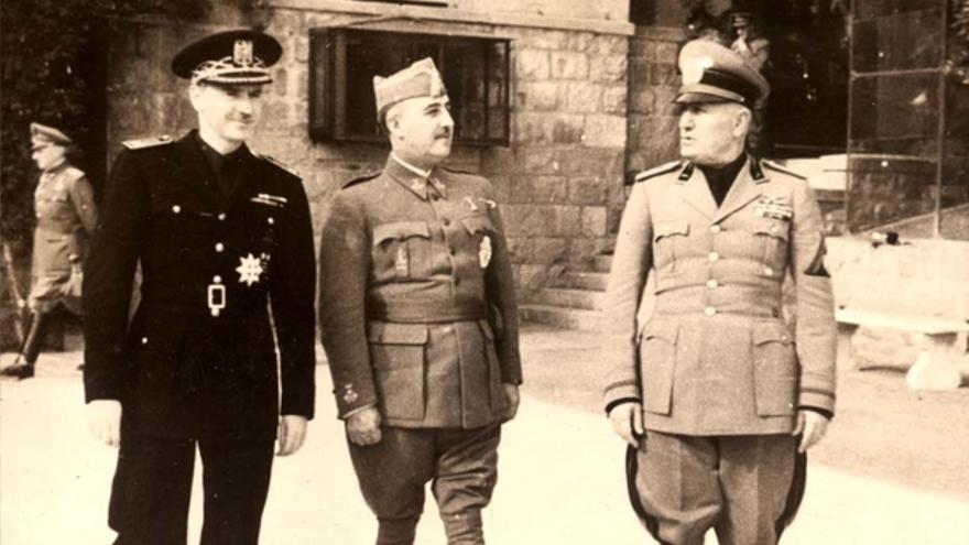 Franco y Mussolini en 1941