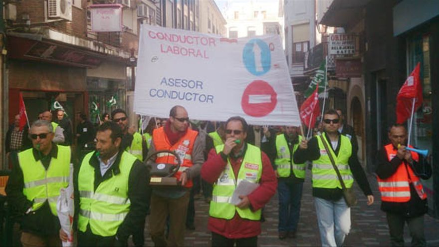 Conductores se manifiestan en Ciudad Real