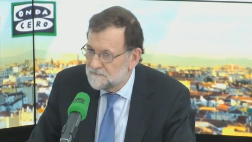 Mariano Rajoy durante la entrevista en Onda Cero