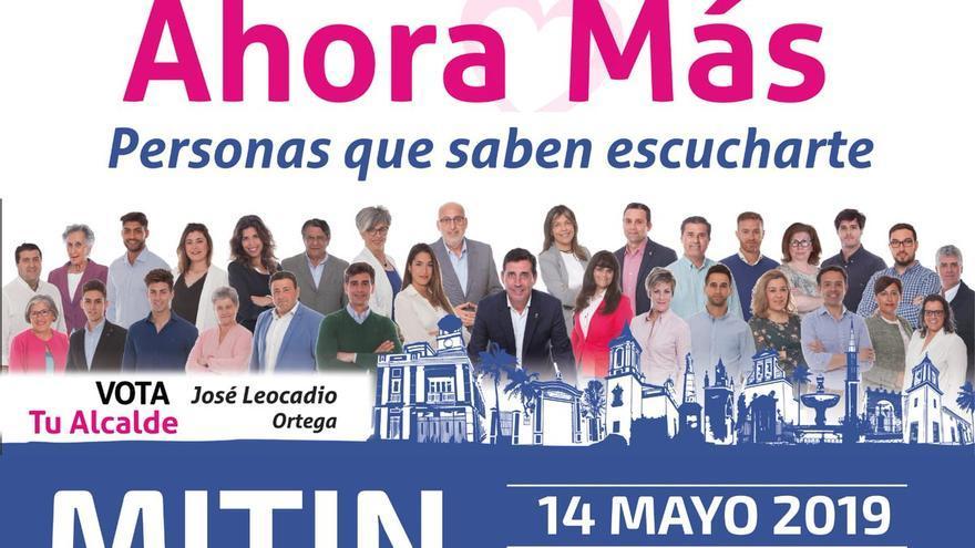 Cartel del candidato del PP a la alcaldía de Pilas (Sevilla).