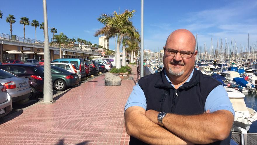 El presidente de la Asociación de Titulares de Licencias de Auto Taxi de Canarias (Atlatc), Antonio León.