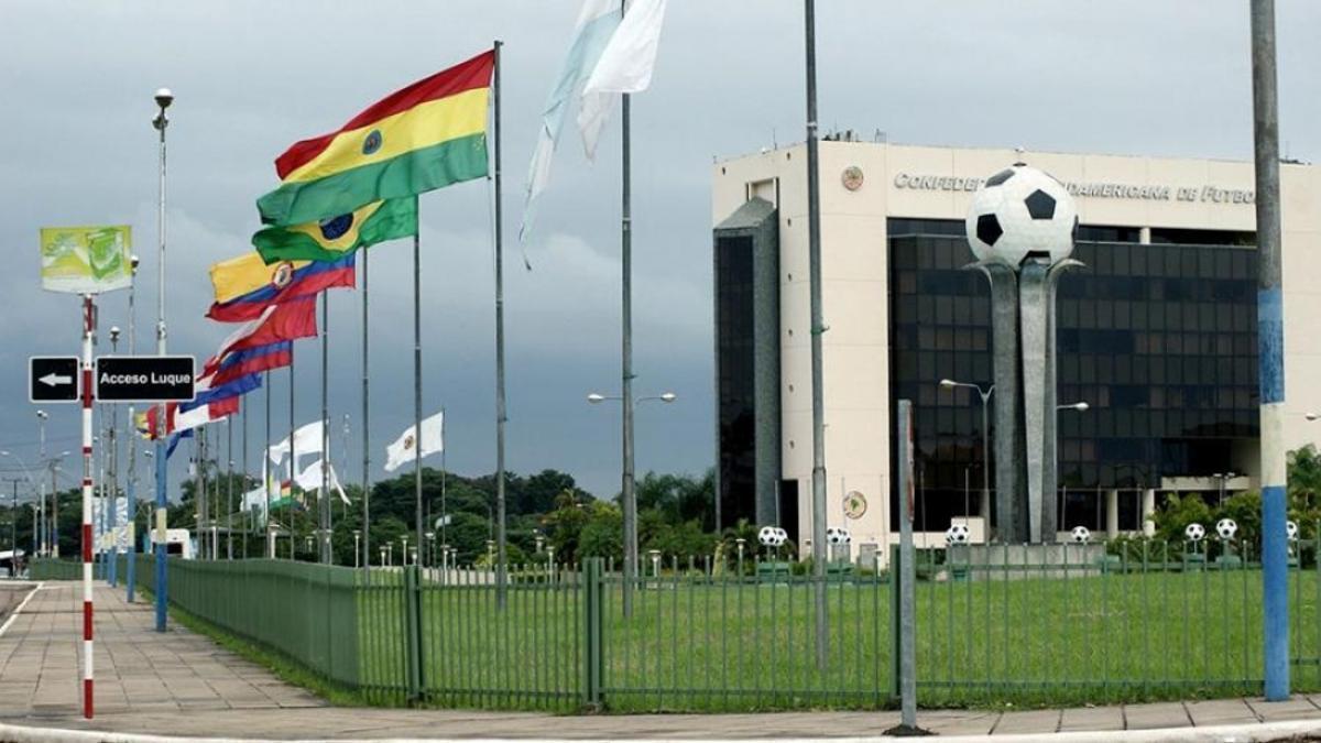 La sede de la Conmebol en Luque, Paraguay