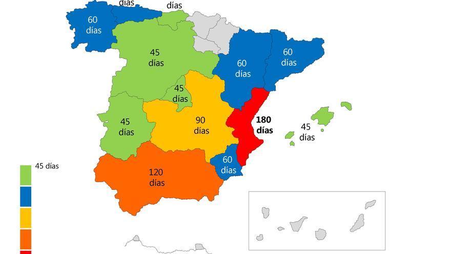 Lo que tardan las comunidades autónomas en pagar la dependencia en España