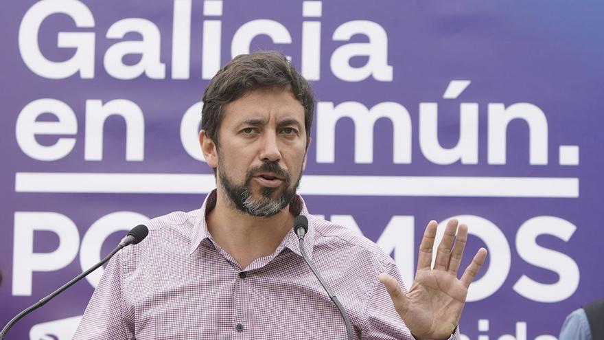 Antón Gómez-Reino, durante la presentación del programa de Galicia en Común.