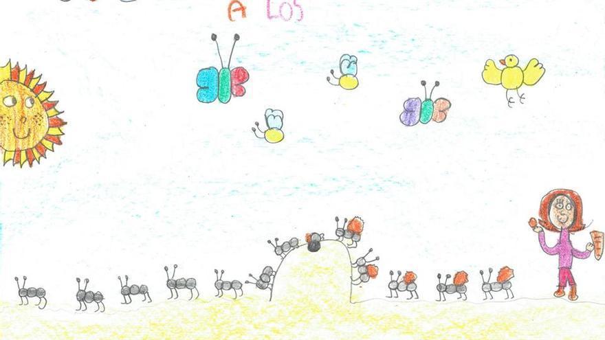 Dibujo de Giselle, alumna de 3º de Primaria en el 'C.E.I.P. Melquiades Hidalgo' de Cabezón de Pisuerga (Valladolid)