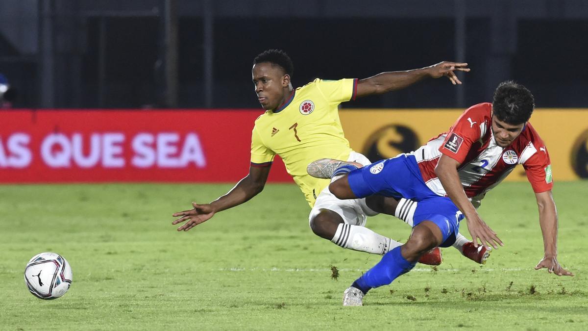 Paraguay y Colombia empataron 1-1