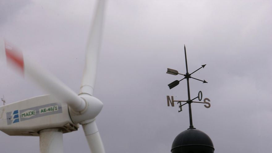 Energía eólico en molinos del Polígono de Arinaga.