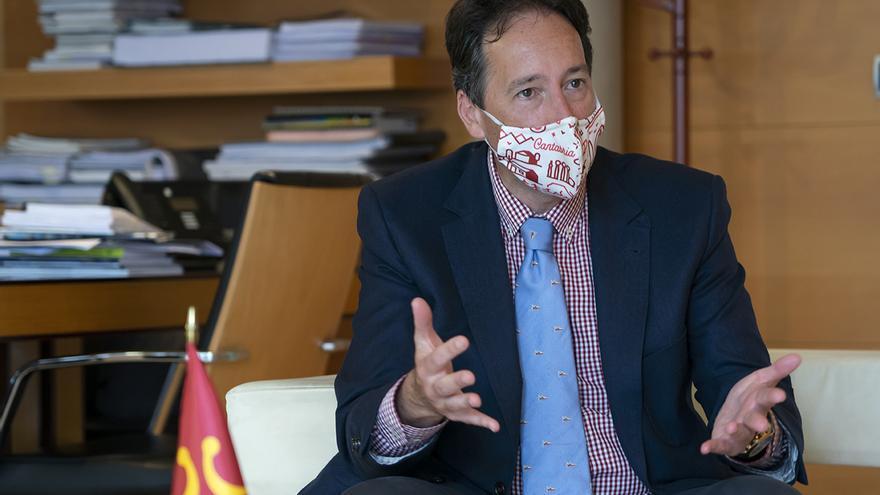José Luis Gochicoa durante la entrevista con elDiario.es.