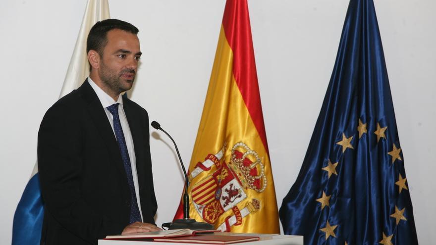 Aarón Afonso González, consejero de Presidencia, Justicia e Igualdad. (PSOE)