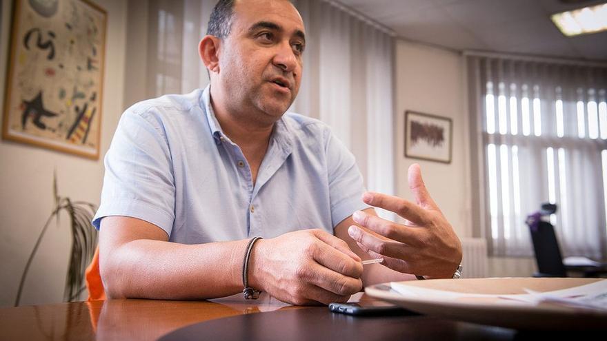Pacheco, al seu despatx de CCOO, durant l'entrevista