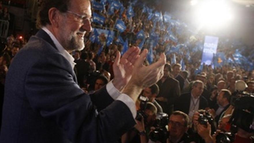 Mariano Rajoy Durante Un Mitin En Toledo