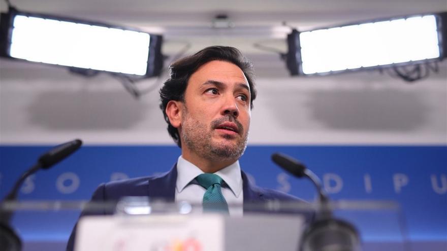 El portavoz adjunto del PP y cabeza de lista por Las Palmas al Congreso de los Diputados Guillermo Mariscal