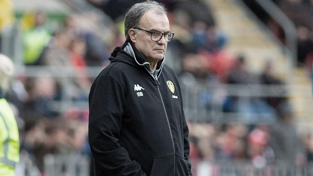 El rosarino Marcelo Bielsa, entrenador del Leeds United